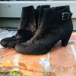 Sam&Libby black ankle boots suede material